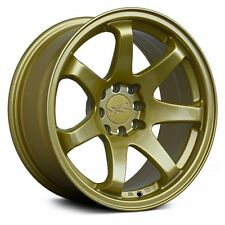 "4 X 17"" X 8.25 XXR 551 GOLD WHEELS 5X100 5X114.3 ET +22 GENUINE XXR551"