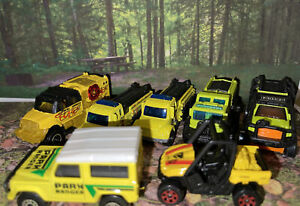 Lot Of 7 Matchbox Park Ranger & Brush Fire Trucks Crew New Loose Die Cast 1:64