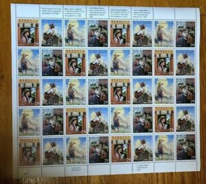 USPS POSTAGE STAMPS 1992 CLASSIC BOOKS COLLECTION 29 CENT BLOCK OF 40