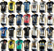 Herren Shirt T-Shirt  Kurzarm Motiv Rundhals