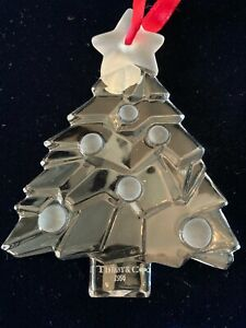 TIFFANY & CO. Crystal Christmas Tree Holiday Ornament