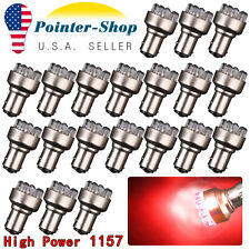 20x Red 1157 12 SMD LED Tail Brake Stop Parking Turn Signal Light Bulbs 1152 12V