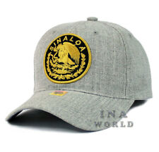 MEXICAN hat MEXICO Federal Logo SINALOA Curved bill Baseball cap- Heather Gray