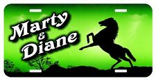 Personalized License Plate Auto Car Tag Lightning Mustang Horse Lime Green
