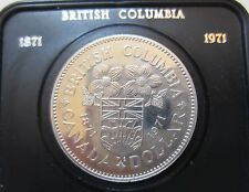 1971 Canada (B. C. Centennial) Commemorative Dollar Coin. UNC. Original Case