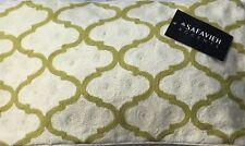 SAFAVIEH DEC900A RHEA Pillows SET 2 Chain PEAR GREEN CREAM 12X20 Zipper Covers