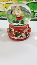 Santa Playing Tennis and other Sports Musical Snow Globe Christmas Holiday