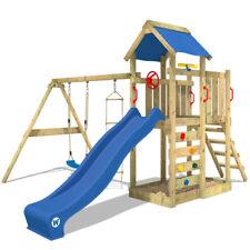 Parco giochi legno Giochi da giardino con altalena e scivolo - WICKEY MultiFlyer