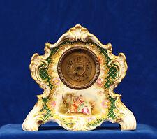 19th Century Dresden Porcelain Boudoir Clock by Franziska Hirsch