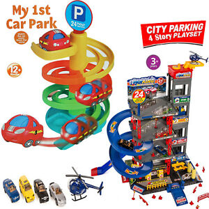 KIDS BOYS BAY GARAGE PARKING CAR TRACK BABY CHILDREN ACTIVITY PLAY TOY SET XMAS