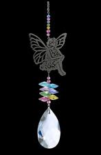 Large Crystal Fantasies Sitting Fairy - Confetti