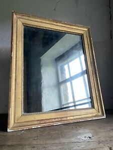 Antique French Gilt Framed Mirror. Mid-Late 19thC