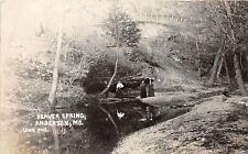 F44/ Anderson Missouri Rppc Postcard 1909 Beaver Spring People