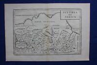 Original antique map ASIA, 'SCYTHIA ET SERICA', CASPIAN SEA, Cellarius, 1799