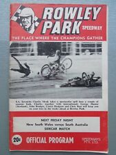 1970 - 1971  ROWLEY PARK SPEEDWAY OFFICIAL PROGRAM MEETING NUMBER 2