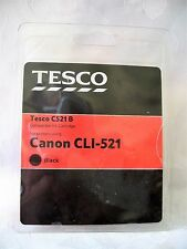 3 x Canon Ink Cartridges Black CLI-521 Tesco Compatible Ink Cartridges C521B
