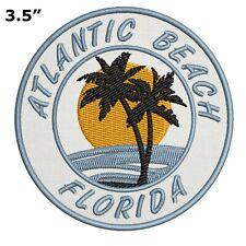 Atlantic Beach Florida Embroidered Patch Iron Sew-On Motif Souvenir Applique