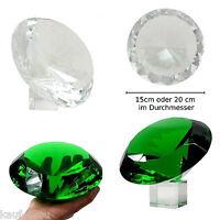 Glasdiamanten grün & weiss  20 cm oder 15 cm Kristallglas Diamanten Facetten