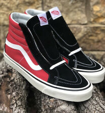New VANS Sk8-Hi 38 DX Anaheim Factory OG Black/Red Canvas/Suede Mens Size 12
