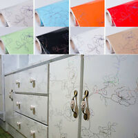 Self Adhesive Wall Sticker Contact Paper Wallpaper Removable for Cupboard Door