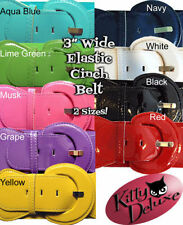Leather Solid Wide Belts for Women