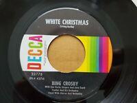 BING CROSBY - White Christmas / God Rest Ye Merry Gentlemen 1950 POP DECCA NM-