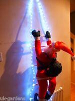 Christmas Decorations - Santa On Ladder Rope Light LED Lights - Indoor Outdoor