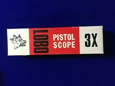 Thompson Center 3X Lobo Pistol Scope Box & Instructions Only