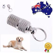 Pet Dog Cat Anti-Lost Puppy ID Address Name Label Tag Barrel Tube Collar Leash