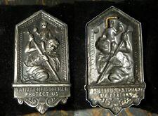 Plaque en argent st Christopher Protect US 5x2,6cm