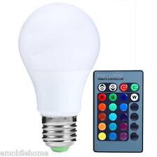 E27 3W 300LM RC LED Bulb 16 Colors Changing Dimmable RGB Light 85-265V