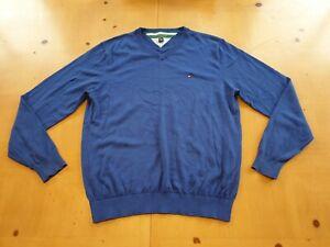 Tommy Hilfiger Golf Designer Men's Blue Jumper Pullover Size Large (L)