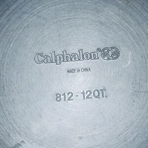 Calphalon 812 Aluminum Stock pot with Lid - 12 QT CAPACITY - Anodized Non-Stick