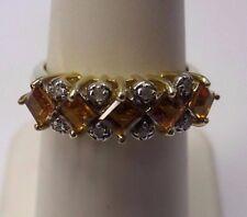 14k Yellow Gold Citrine Diamond Ring