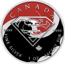 """$5 Canada 1 oz Silver SUPERMAN """"BATMAN v SUPERMAN Fight"""" .9999 Box, Cap, Coa"""