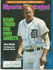 Kirk Gibson Autographed Sports Illustrated Magazine Full 12/9/85 Tigers
