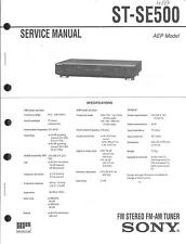 Sony Original Service Manual für ST-SE 500