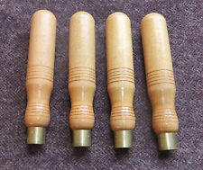 "4 x Beech Chisel Handle, 3/4"" Brass Ferrule, Made in Sheffield, Good Quality"