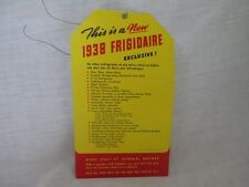 pos 1938 FRIGIDAIRE refrigerator General Motors advertising point of sale 2 side