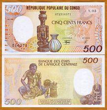 Congo Republic 500 Francs, 1990, P-8 (8c), UNC