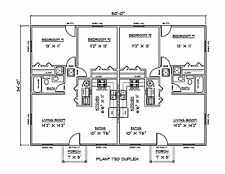 Plan PDFs for Affordable Duplex 1700 Sq. Ft. (Email Delivery Only)