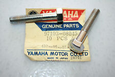nos Yamaha motorcycle watercraft bolt 2 pcs. steering crankcase dome head chrome