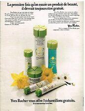 Publicité Advertising 1974 Cosmétique les produits de beauté Yves Rocher