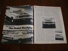 1970 American Motors Hurst Rebel Machine *Original Article*