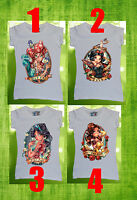 Disney All Princess Women T-shirt Sexy Tattoo Ariel Snow White Jasmine Belle Bad