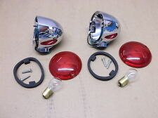Pair of Chrome Flat Lens Turn Signals for 1986-2001 Harleys - $33 NEW!!!