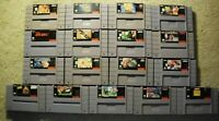 SNES Super Nintendo Games Cartridge Lot- TESTED- Up To 25% OFF- Free Shipping