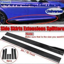 """78.7"""" Universal Side Skirt Extensions Rocker Panel Splitters Lip For Honda Bmw"""