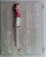 PREGNANT LADY LOLLIPOP CLEAR PLASTIC CHOCOLATE CANDY MOLD B047