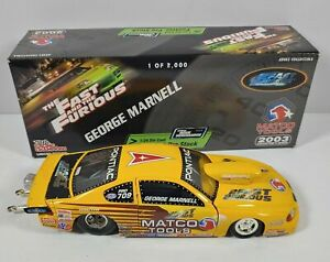 GEORGE MARNELL 2003 THE FAST AND THE FURIOUS 1/24 R/C DIECAST PRO STOCK 1/2,000